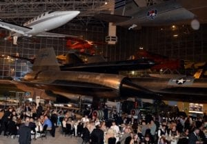 Dining among the displays at Seattle's Museum of Flight